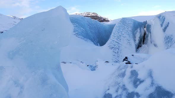 Thumbnail for Iceland Large Blue Glacier Ice Chunk In Winter