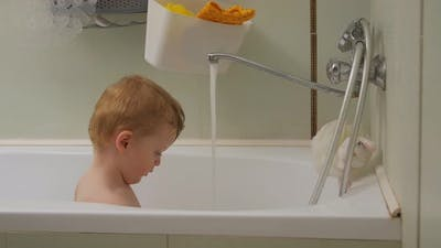 Toddler Boy Bathes