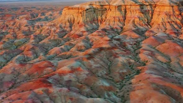 Thumbnail for Textural Colorful Striped Canyons Tsagaan Suvarga