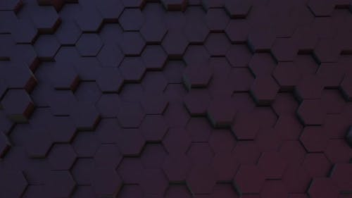 Abstract hexagon form wall moving background, Geometric concept