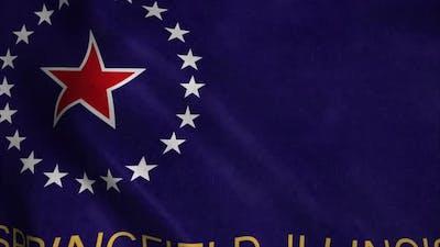 Springfield flag, Illinois, United States of America