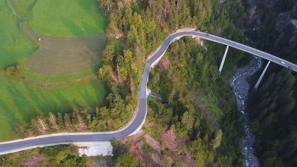 Thumbnail for Scenery of Road and Bridge with Green Environment on the Sides