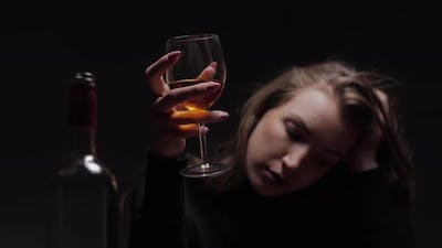 Woman With Alcohol Problem