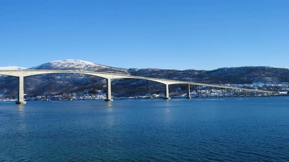 Winter View Of Senja Bridge
