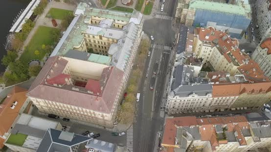 Thumbnail for Aerial Birds Eye View of Prague City Center