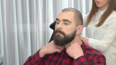 Guy with Beard Barber Shop