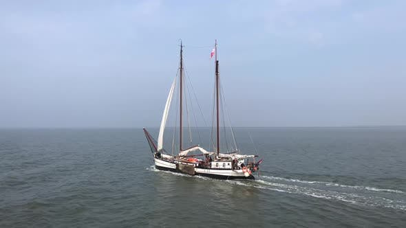 Thumbnail for Sailboat on the waddensea