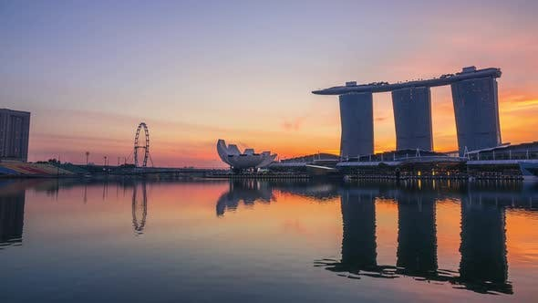 Thumbnail for Morning in Marina Bay and Mist
