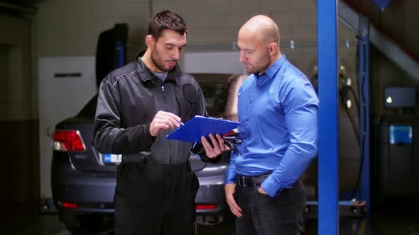 Thumbnail for Mechanic and Customer Shaking Hands at Car Service