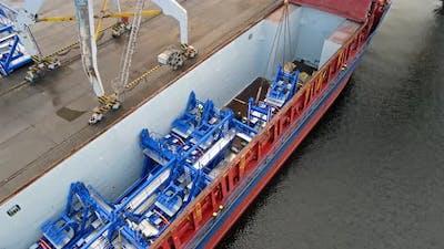 Cargo ship with high technology cargo
