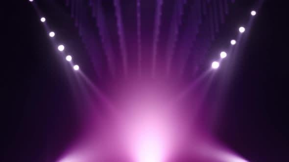 Thumbnail for Looped Purple Violet Defocused Mockup Stage Background