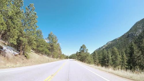 POV point of view -Driving East to Boulder on highway 36.