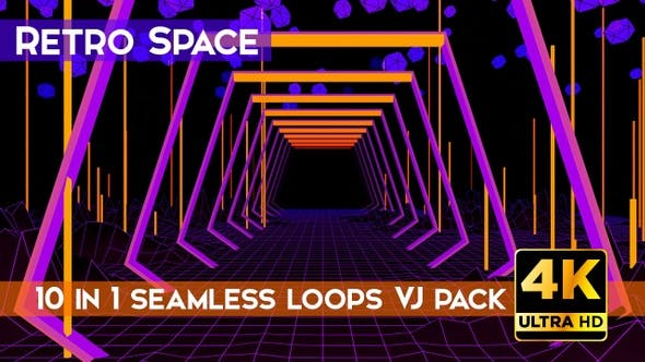 Thumbnail for Retro Space VJ Loops Pack