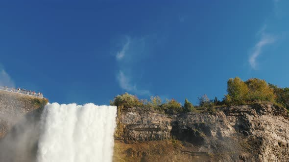 Thumbnail for Niagara Falls Against the Background of a Blue Sky