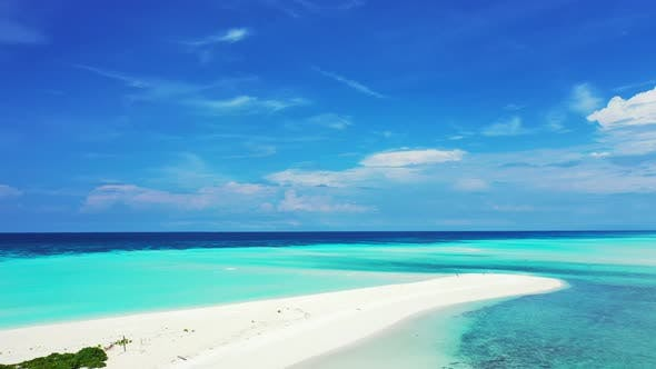 Thumbnail for Wide overhead abstract shot of a paradise sunny white sand beach and aqua turquoise water background