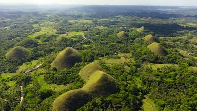 Chocolate hills.Bohol Philippines