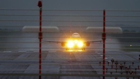 Thumbnail for Airplane Departure at Rainy Weather