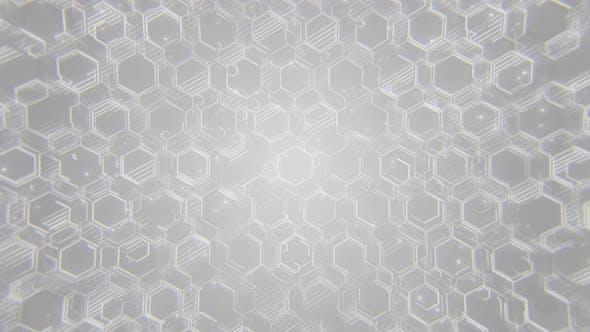 Thumbnail for White Hexagonal Tech Background