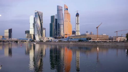 Morning  of Moscow City Business Center