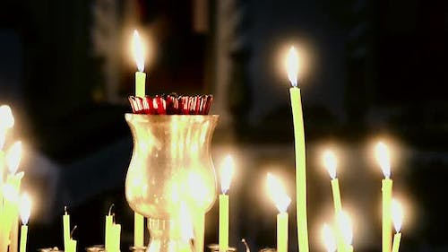 Candles Burning in a Candlestick