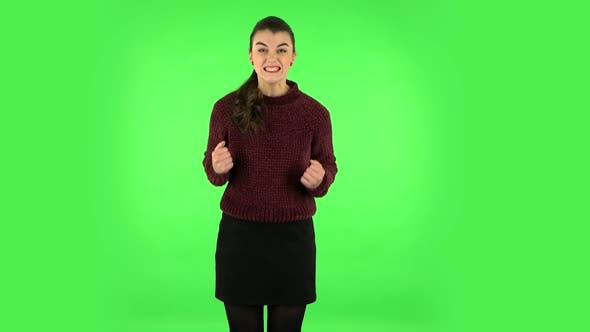 Thumbnail for Portrait of Annoyed Woman Gesturing in Stress Expressing Irritation and Anger. Green Screen