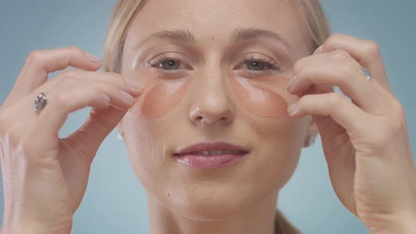 Blonde Model During Facial Treatment Routine