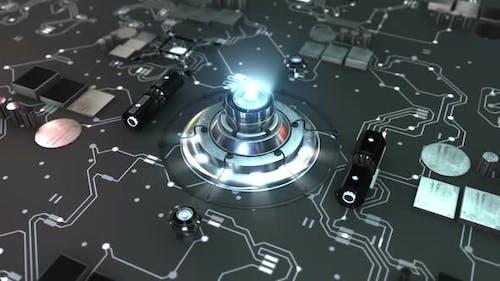 Futuristic Circle CPU