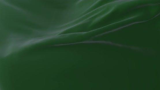 Green Cloth Waving