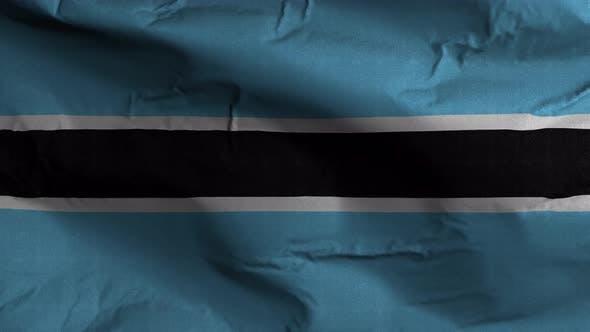 Thumbnail for Botswana Flag Textured Waving Background 4K