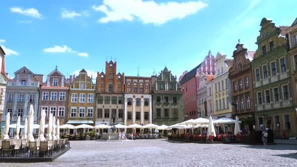 Thumbnail for View Of Main Square Rynek Of Polish City Poznan July 20 2017 12