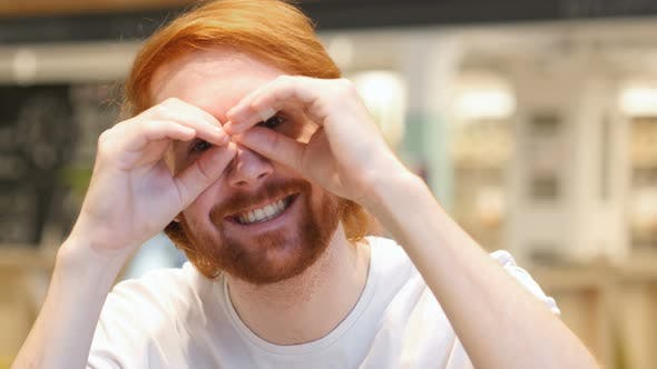 Searching Funny Redhead Beard Man, Handmade EyeWears
