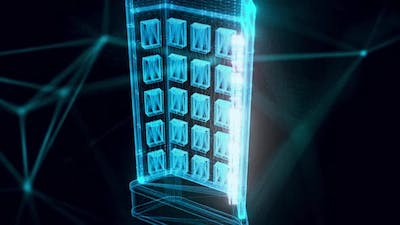 Market Stand Cards Hologram Close Up Hd