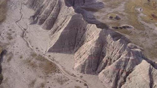 Badlands Western Region in Spring Erosion Topography Cliffs Geology Hills