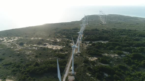 Thumbnail for Wind Turbines And Sea Aerial View