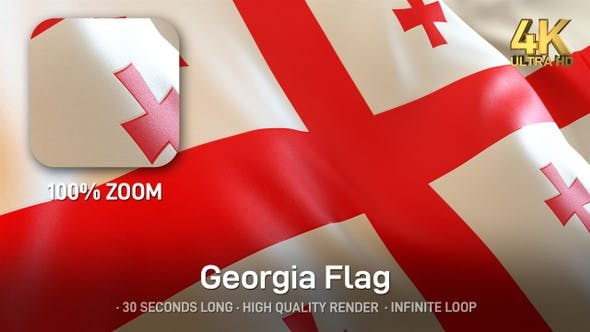 Thumbnail for Georgia Flag - 4K