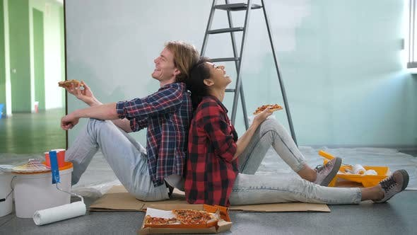 Thumbnail for Happy Renovation Diy Couple Taking a Break