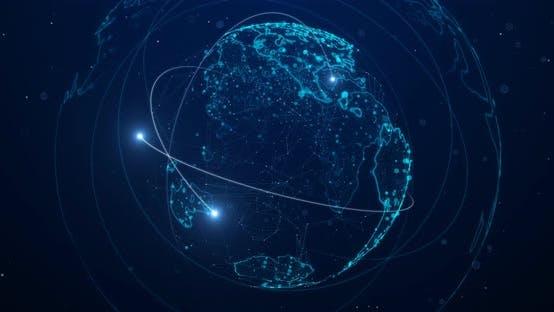 Thumbnail for High Tech Digital Earth Background 4 K