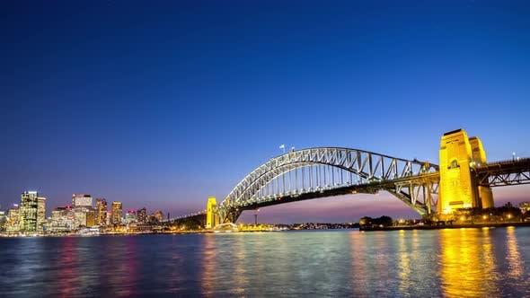Thumbnail for Sydney Harbour Bridge Sunset