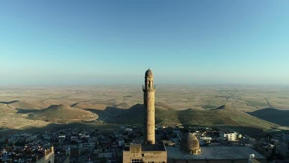 Mardin Minaret Aerial View