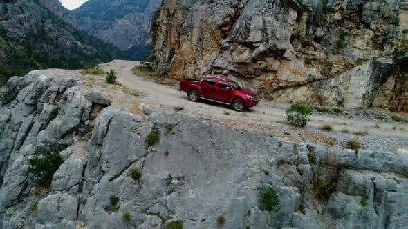 Jeeps Climb Gravel Road