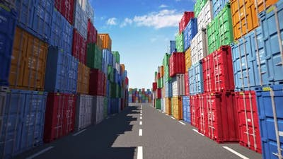 Cargo Containers Port