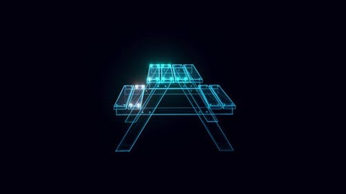 Picnic Table Hologram 4k