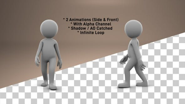 Thumbnail for Stick Figure Fast Walk - 2 Pack