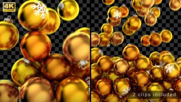 Golden Christmas Balls Transitions