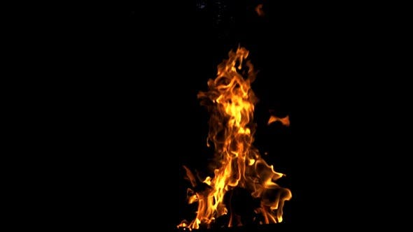 Thumbnail for Fire Flames on Black Background