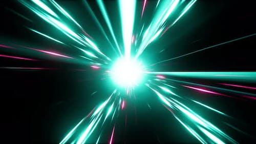 Abstract Glow Cyan Energy Streak Burst 4K 01