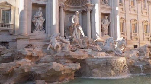 The Famous Trevi Fountain Rome Italy