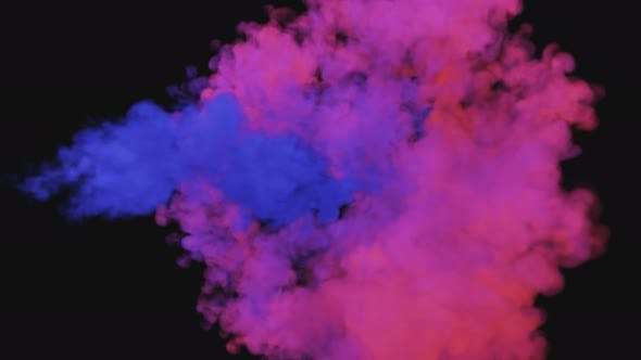 Mixing of Colorful Multicolored Smoke