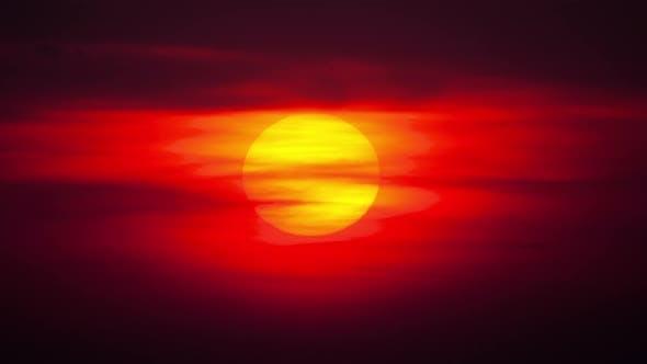 Cover Image for Sunset Landscape, Timelapse