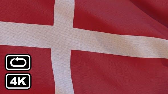 Thumbnail for Denmark Flag 4K Seamless Loop
